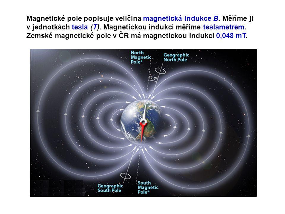 Cíl: Pomocí teslametru změřit magnetickou indukci v okolí permanentního magnetu.
