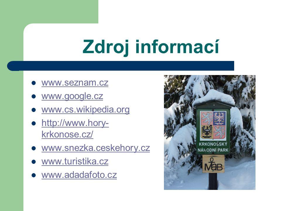 Nejvyšší vrcholy Krkonoš