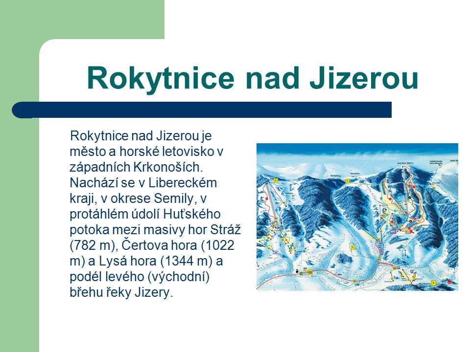 Harrachov Harrachov je město a významné horské letovisko v Krkonoších.