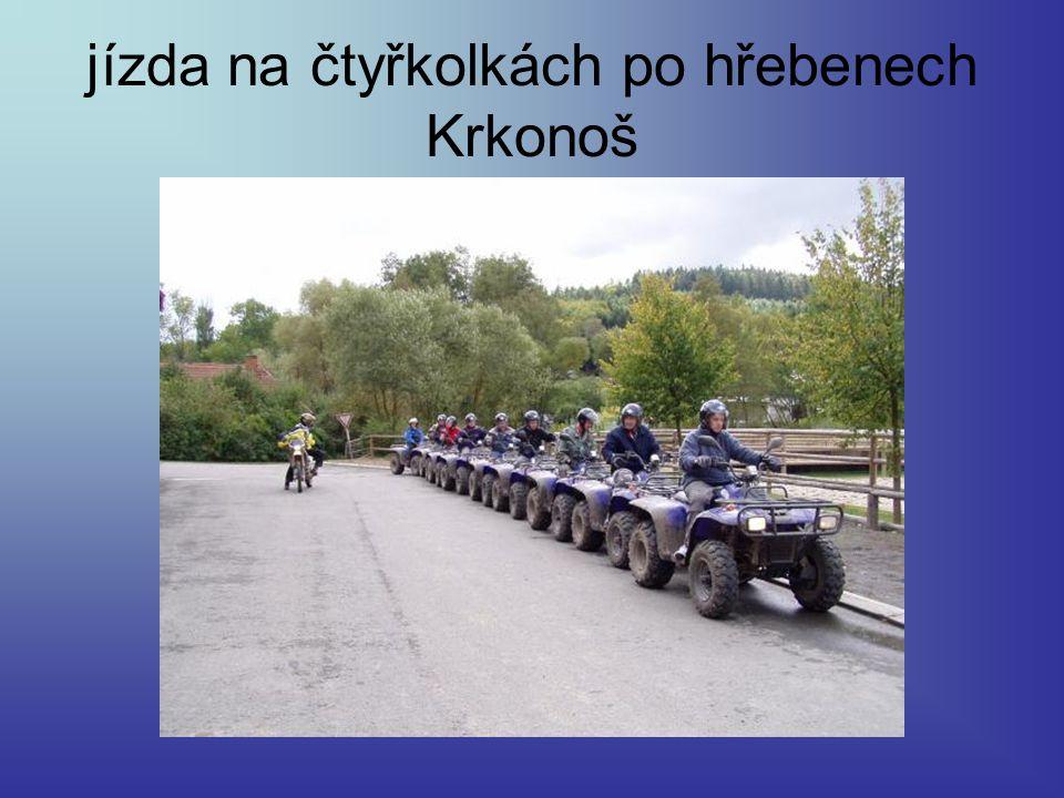 jízda na čtyřkolkách po hřebenech Krkonoš