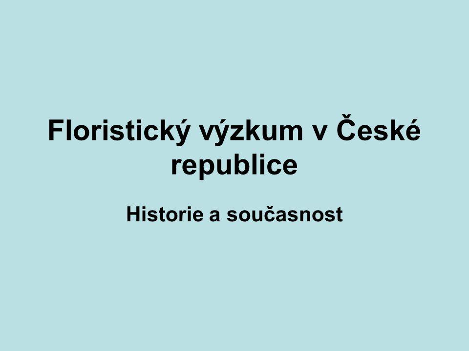 Historie floristického výzkumu Klášterský I., Hrabětová-Uhrová A.