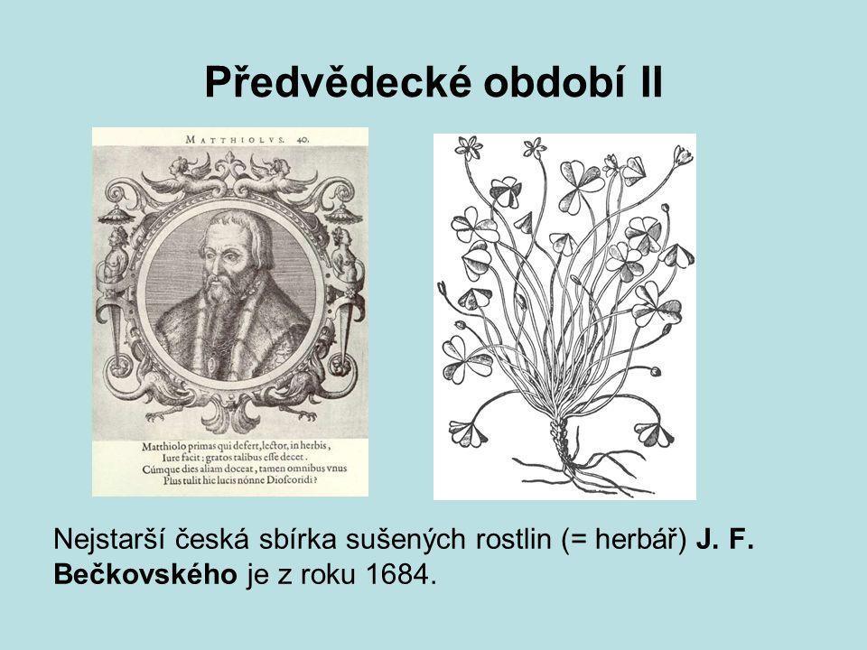 Opizovo období I Je to období organizovaného výzkumu, který řídil Filip Maxmilian Opiz (1787–1858).