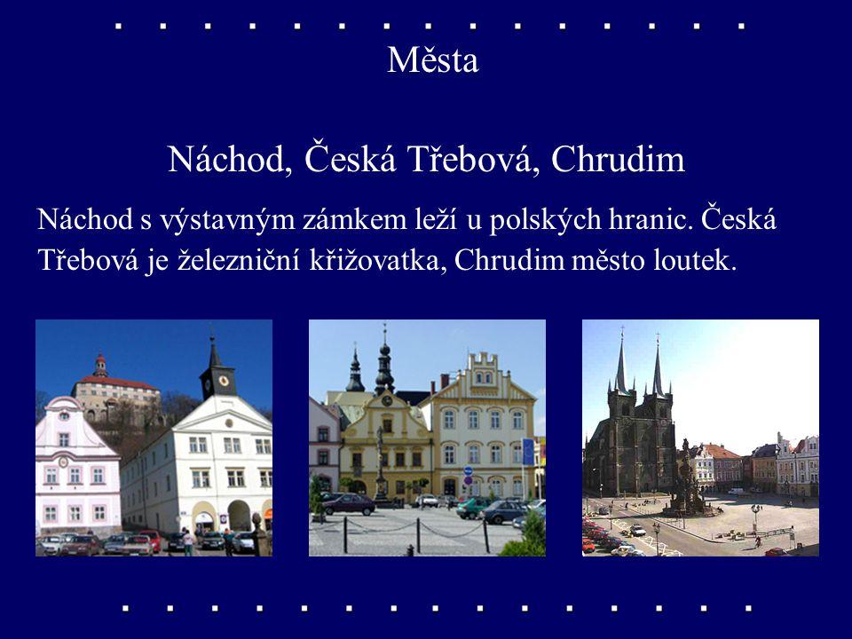 Města Dvůr Králové nad Labem, Trutnov, Jičín Dvůr Králové s moderní ZOO leží na horním toku Labe. Trutnov je východiskem do Krkonoš, Jičín je město po