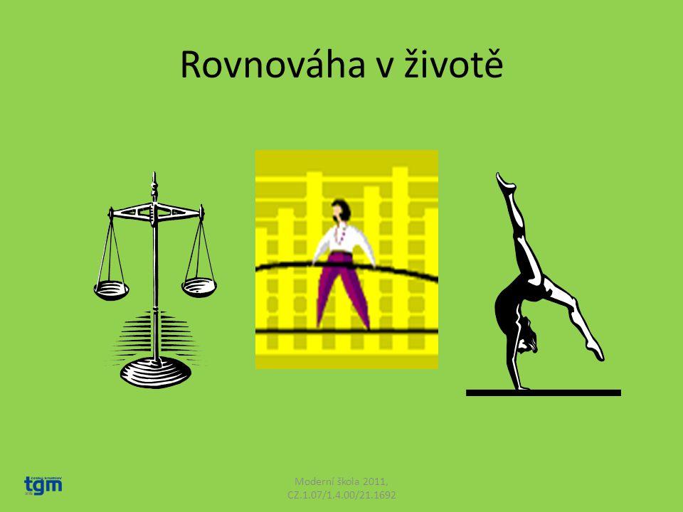 Rovnováha v životě Moderní škola 2011, CZ.1.07/1.4.00/21.1692
