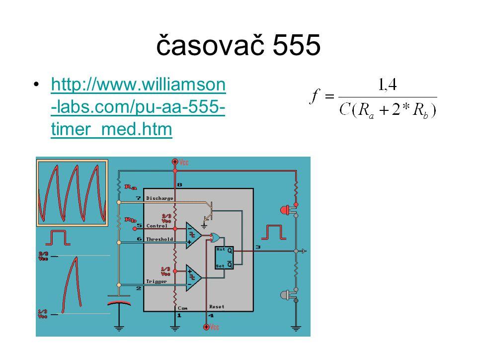 časovač 555 http://www.williamson -labs.com/pu-aa-555- timer_med.htmhttp://www.williamson -labs.com/pu-aa-555- timer_med.htm