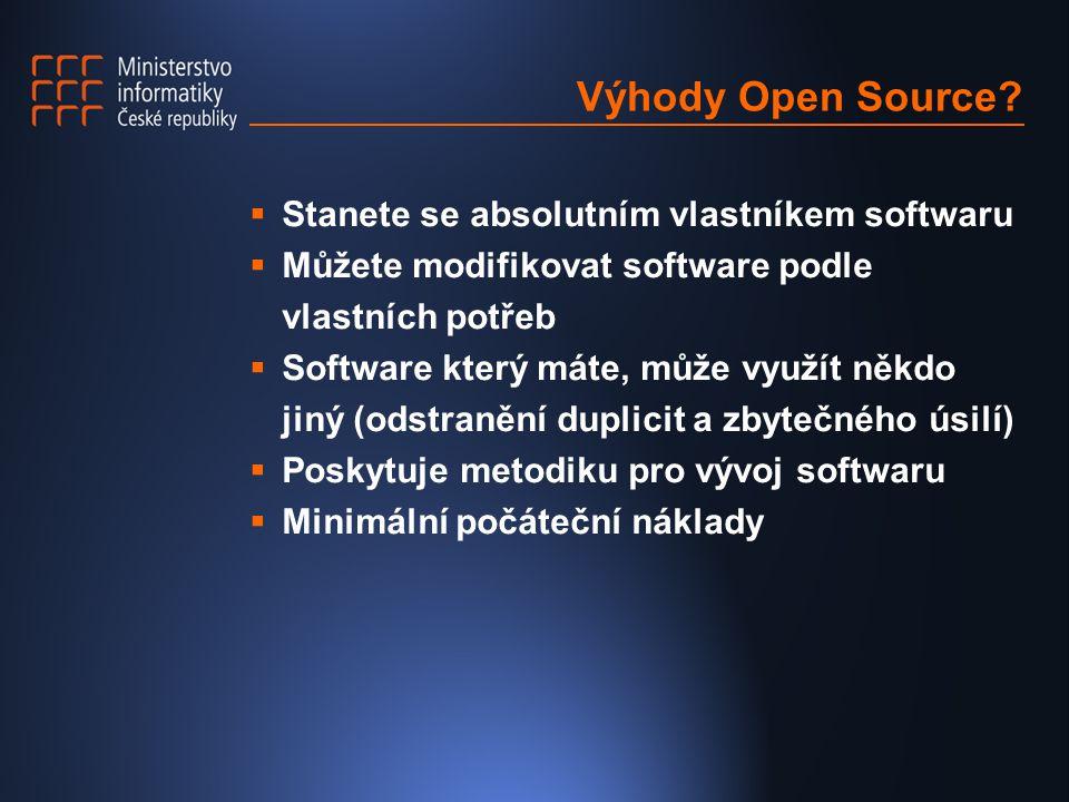Výhody Open Source.