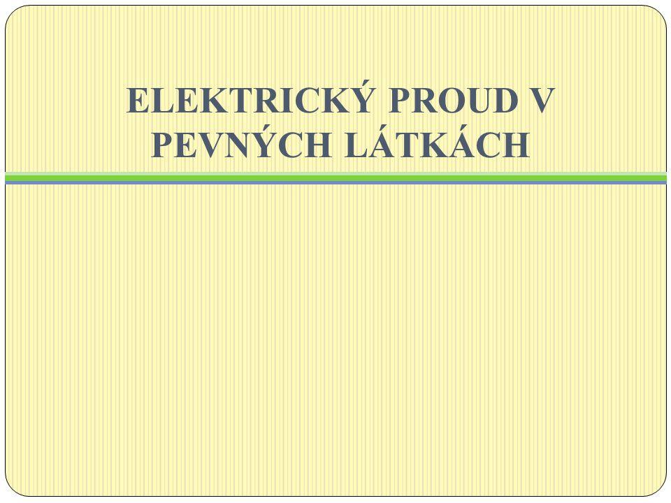Elektrický proud vznikne uspořádaným pohybem elektricky nabitých částic.