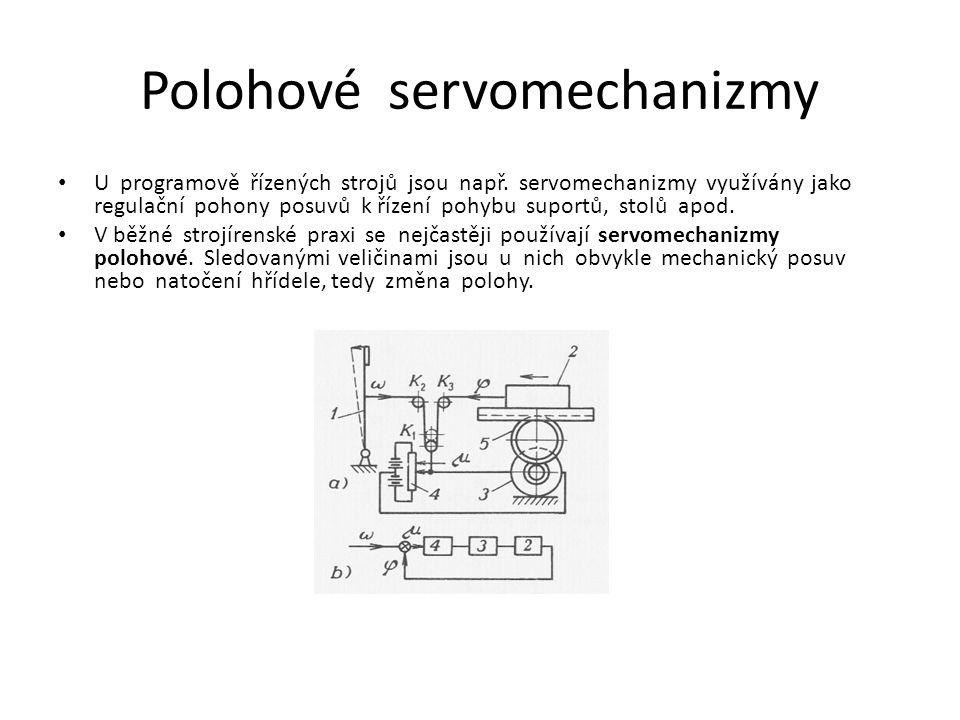 Servomechanismus s hydromotory Nedílnou součástí nebo jako konečný člen servomechanizmu mohou být použity hydromotory.