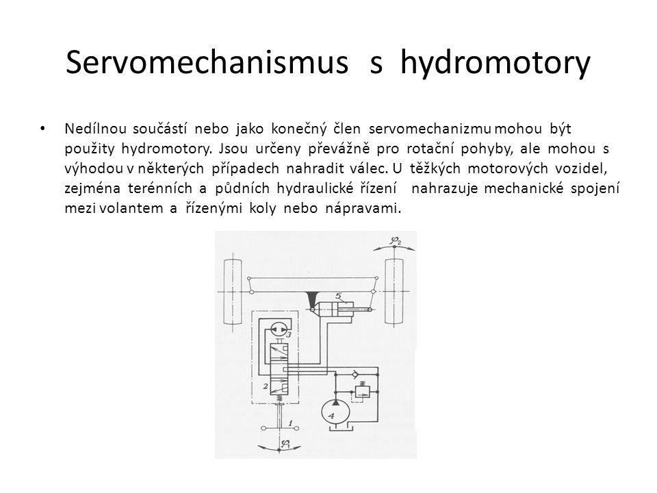 Servomechanizmus s pneupohony Pneumatické pohony se vyznačují jednoduchým provedením, čistotou provozu, vysokou spolehlivostí, velkými přestavnými silami a poměrně krátkými přestavnými dobami.