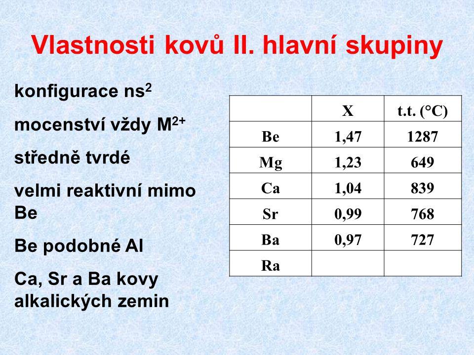 Vlastnosti kovů II.hlavní skupiny Xt.t.