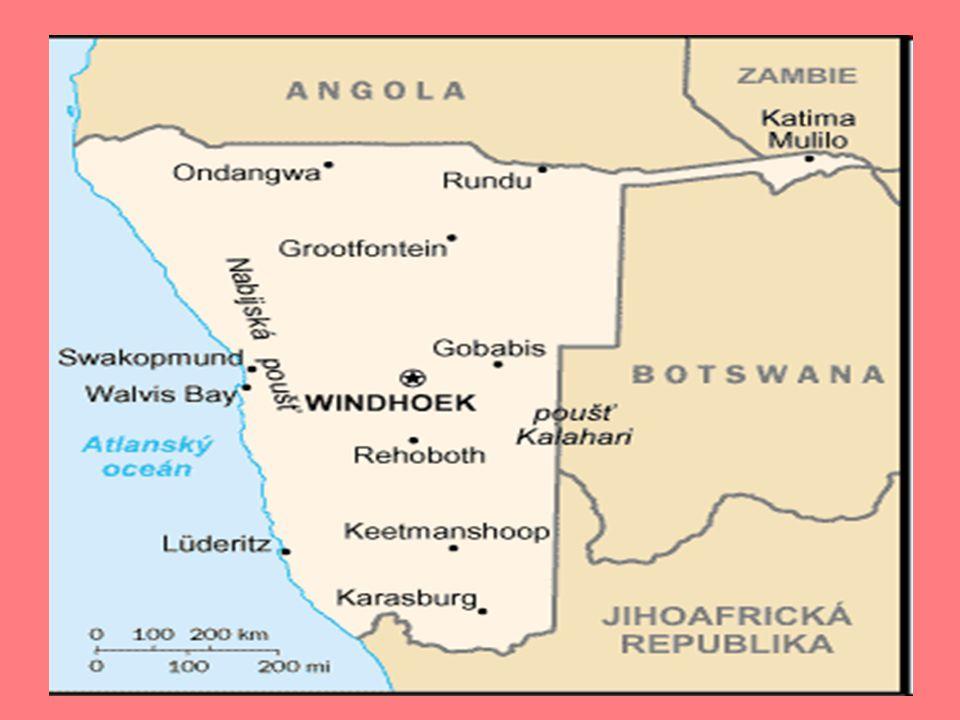 Přírodní poměry Nejdelší řekou Okawango(S) tzv.