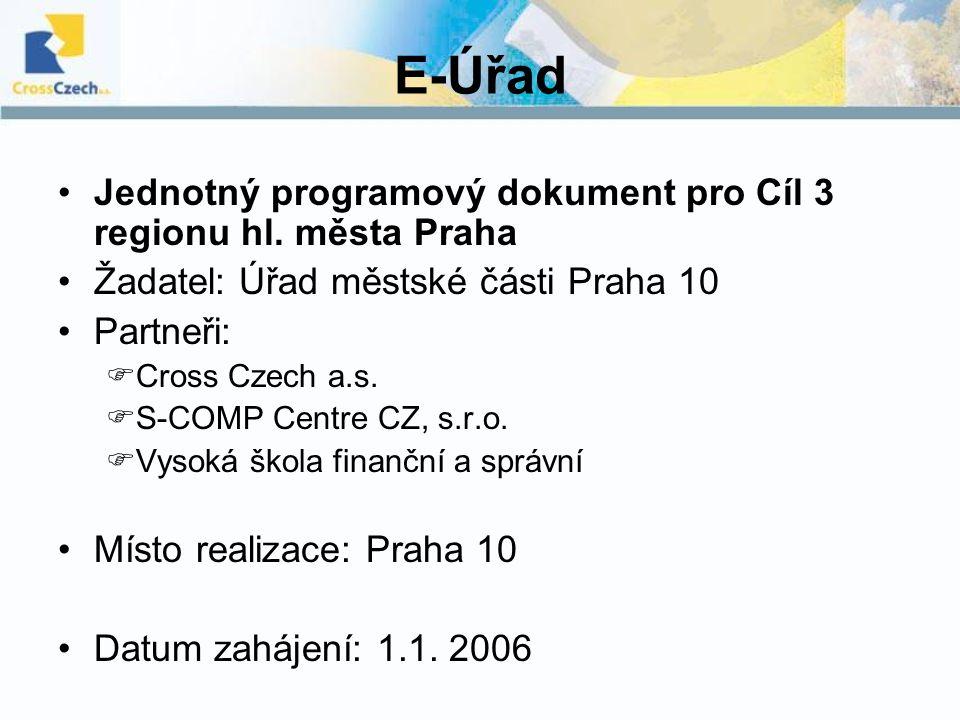 E-Úřad Jednotný programový dokument pro Cíl 3 regionu hl.