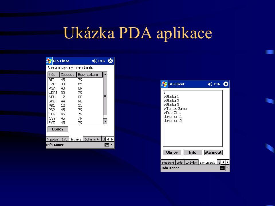 Ukázka PDA aplikace