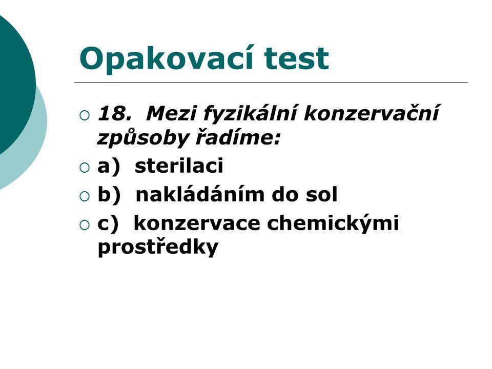 Opakovací test  18.