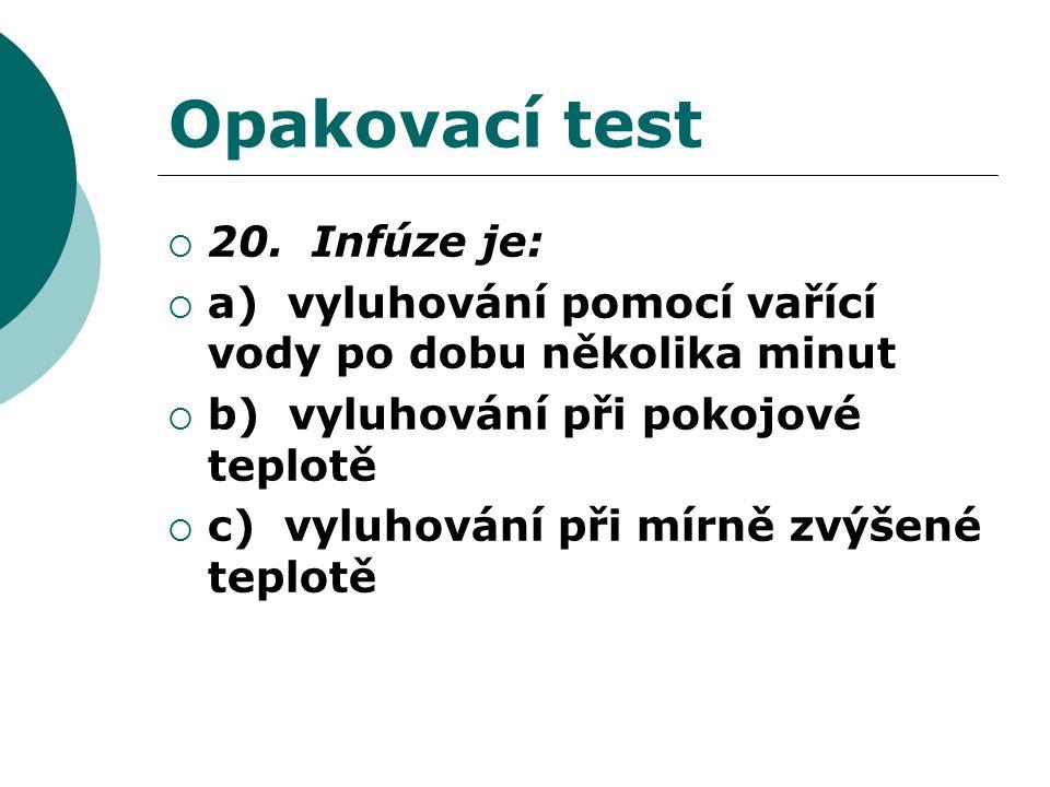 Opakovací test  20.