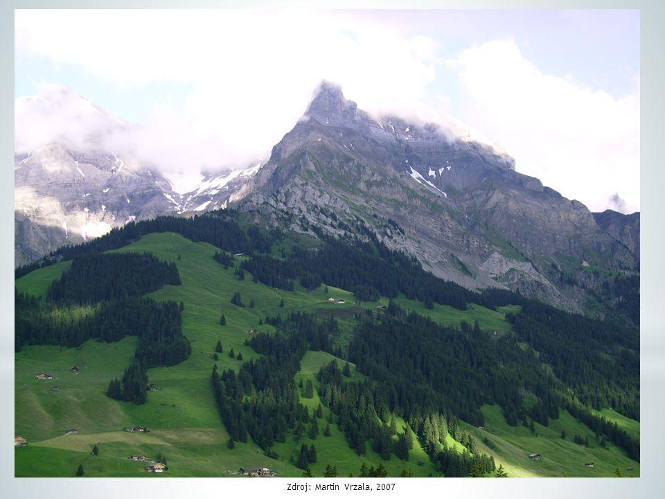 """* velmi výhodná poloha na západě střední Evropy * leží na rozhraní západní, jižní a střední Evropy * alpský stát (""""střecha Evropy"""") * 70 % rozlohy zau"""