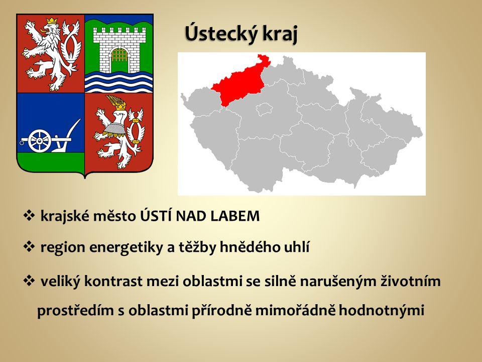 Doplň podle atlasu hlavní přírodní oblasti zasahující na území kraje: Krušné hory (Klínovec 1244 m n.