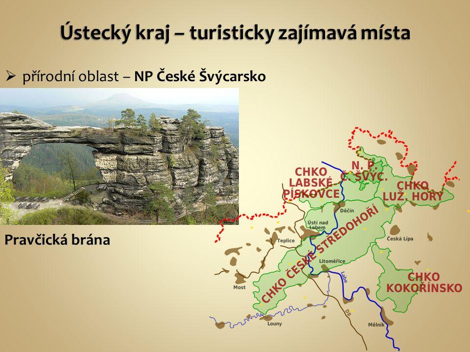  přírodní oblast – NP České Švýcarsko Pravčická brána