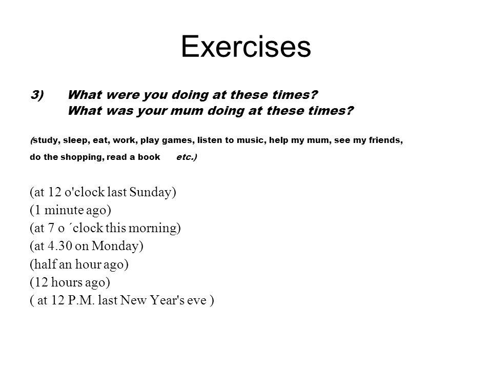 Další použití Minulý čas průběhový používáme také v souvětích, když mluvíme o dějích, které probíhaly po nějakou dobu v minulosti současně.