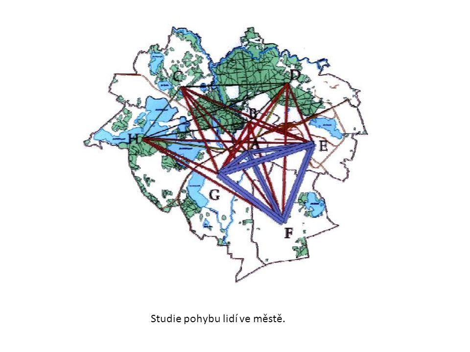 Studie pohybu lidí ve městě.