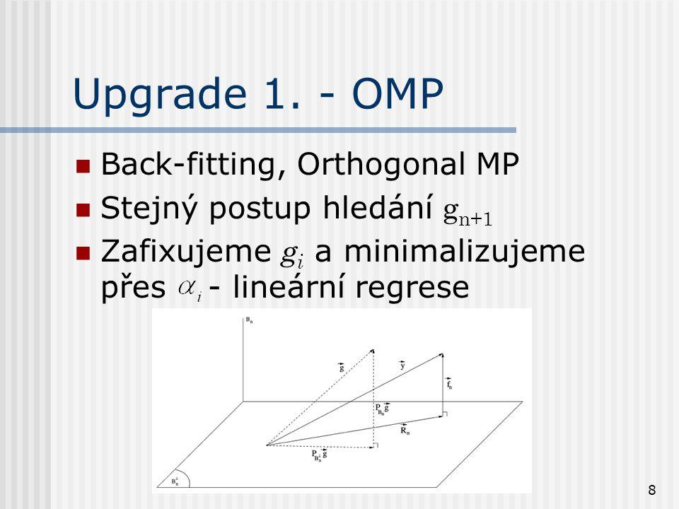 9 Upgrade 2.Pre-fitting, lze spočítat přes projekce Basic, fix.