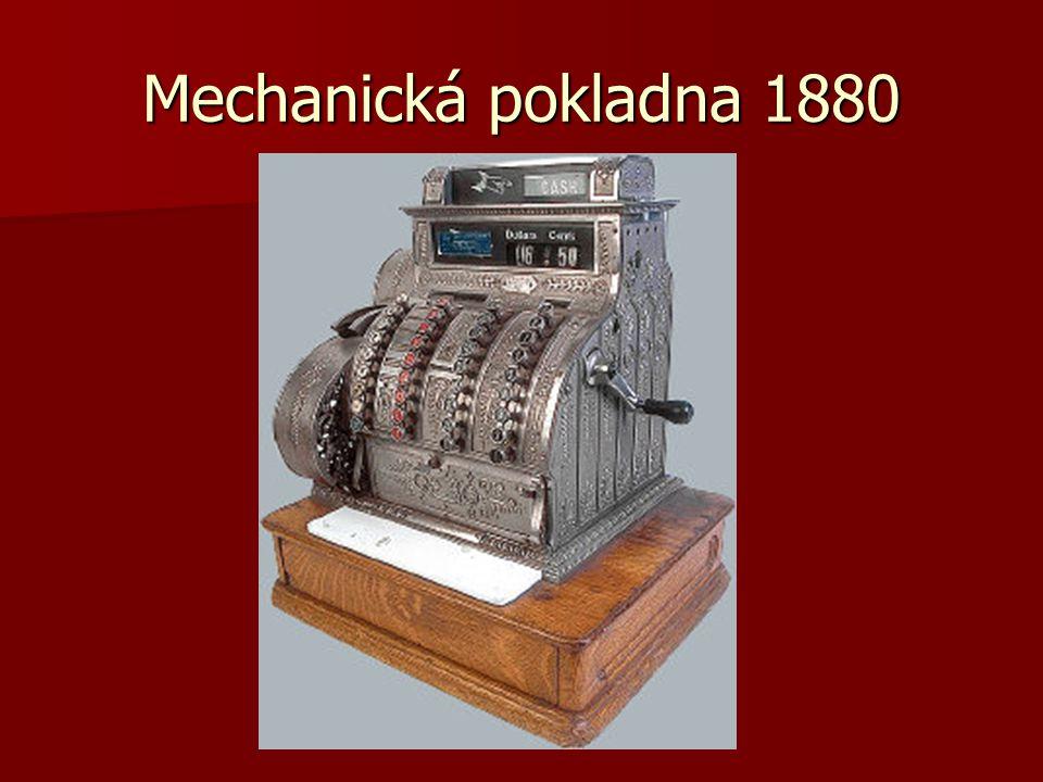 Mechanická pokladna 1880