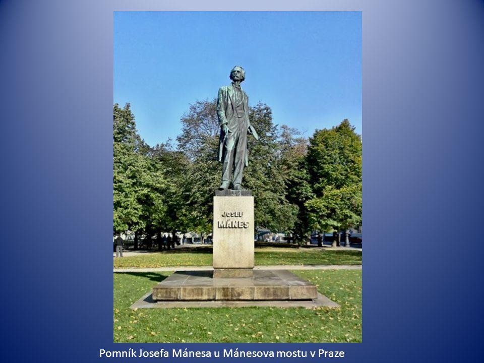 Pomník Josefa Mánesa u Mánesova mostu v Praze
