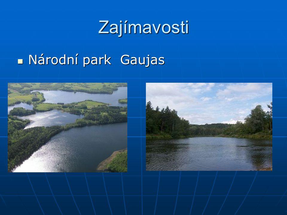 Zajímavosti Národní park Gaujas Národní park Gaujas