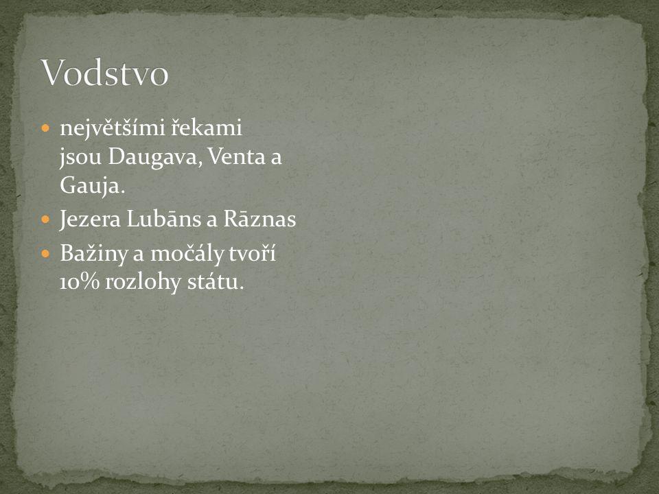 největšími řekami jsou Daugava, Venta a Gauja.