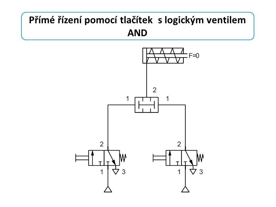 Přímé řízení pomocí tlačítek s logickým ventilem AND