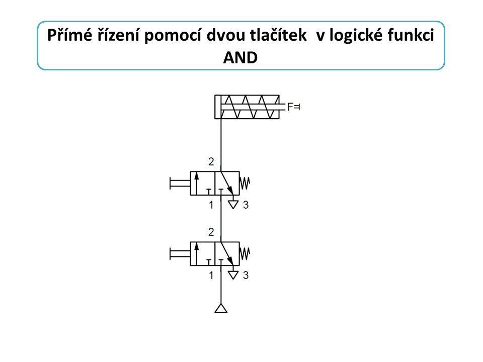 Přímé řízení pomocí dvou tlačítek v logické funkci AND