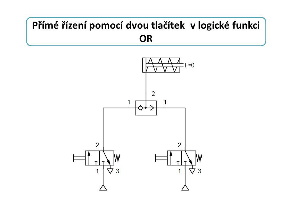 Přímé řízení pomocí dvou tlačítek v logické funkci OR