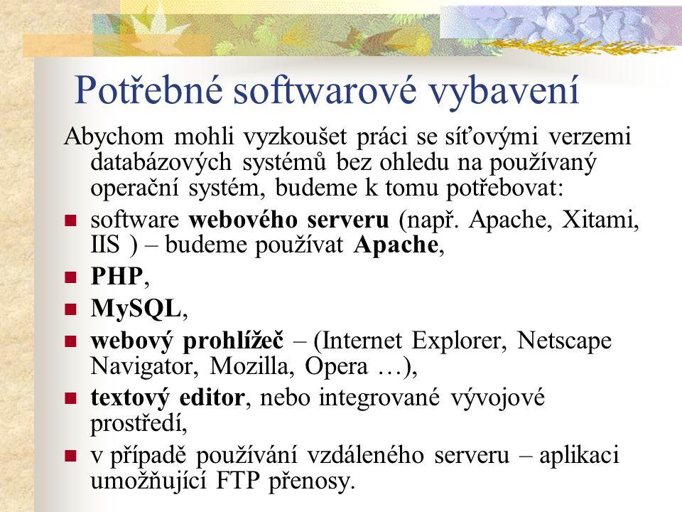Je dobré, že vše se může pořídit prakticky zadarmo – Apache, PHP i MySQL jsou produkty s veřejně přístupným kódem – open source.