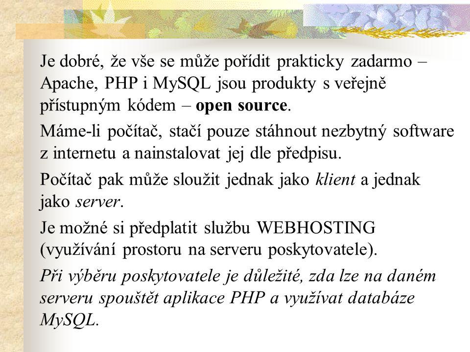 Jak pracuje Webový server.Na server lze pohlížet ze dvou úhlů.