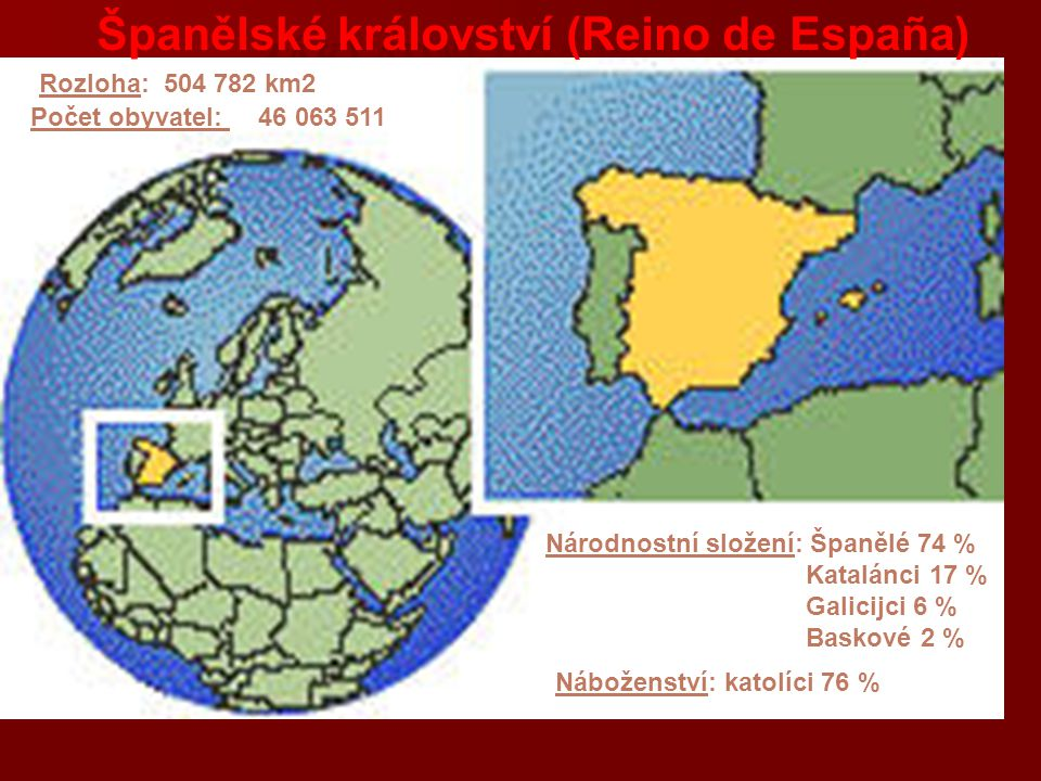 HISTORIE - Pyrenejský poloostrov odjakživa strategickým místem, spojovacím článkem mezi Afrikou a evropským kontinentem, první kmeny Iberů a Keltů - Španělsko vylo vždy důležitou obchodní křižovatkou -Ložisko rud- vždy přitahovalo Féničany, Řeky, Kartagince i Kelty -Římané dobyli poloostrov – porazili předtím kartaginského Hannibala= po šest století částí římského impéria (silnice, města, vodovody + rozšíření latiny) -5.stol.