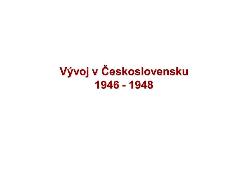 Otázky a úkoly 1.Jak dopadly parlamentní volby roku 1946 v Československu.