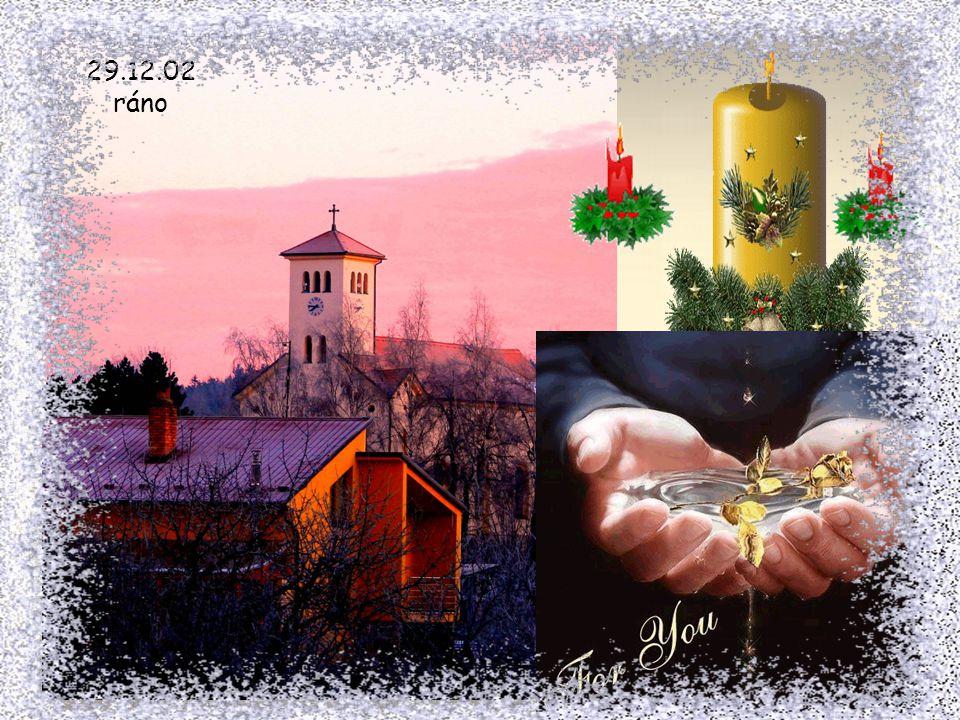 Když rozsvítila se světla svíček, a zazněly zpěvy od jesliček, a narodil se Kristus Pán, vím, že vešel také tiše k Vám a svou malou dlaní, udělil Vám
