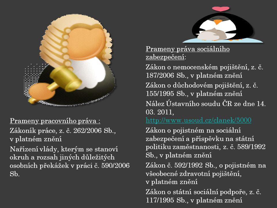 Prameny pracovního práva : Zákoník práce, z. č.