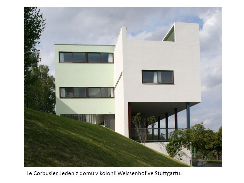 Le Corbusier. Jeden z domů v kolonii Weissenhof ve Stuttgartu.