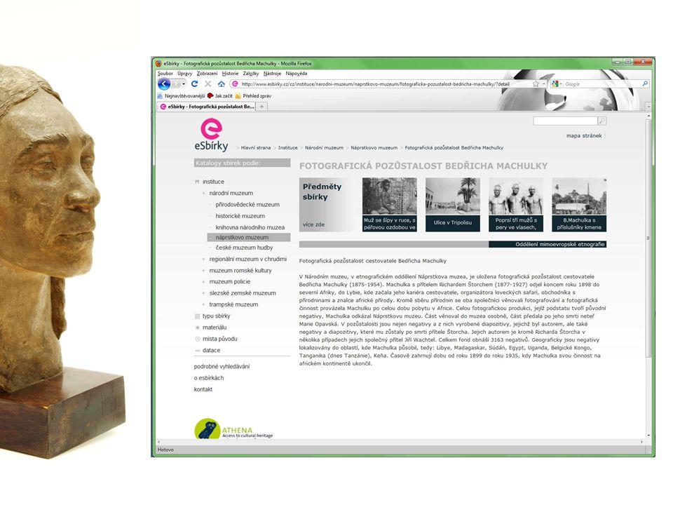 eSbírky dnes proč jsou některé sbírky Národního muzea zastoupeny méně než jiné úspěšné sbírky – několik příkladů zvukový archiv Rádia Svobodná Evropa dvojí zacílení eSbírek