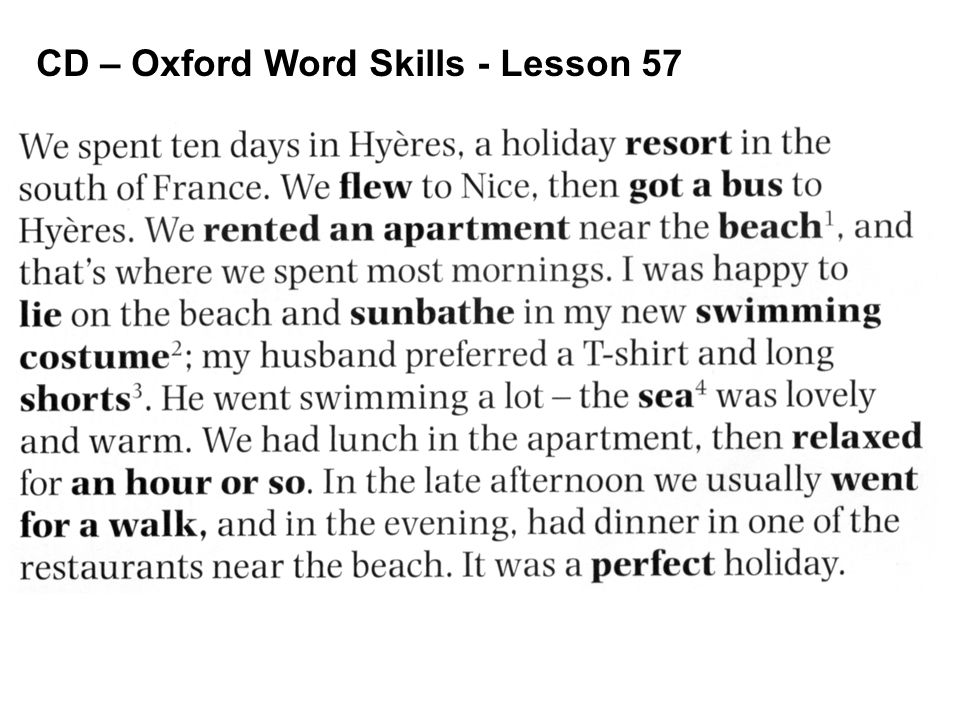 CD – Oxford Word Skills - Lesson 57