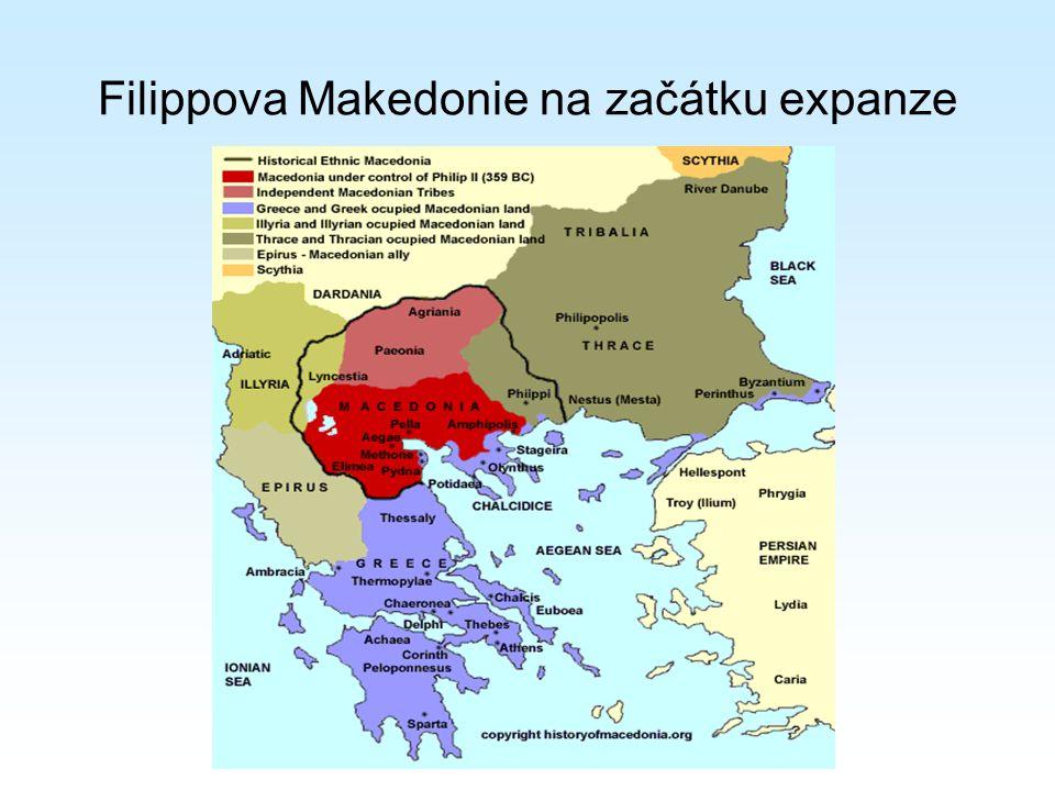 Filippova Makedonie na začátku expanze