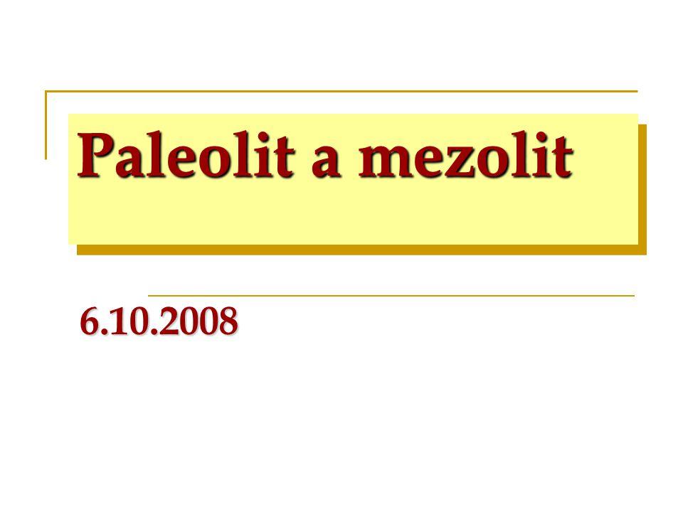 periodizace Paleolit 3/2,5 mil.– 8.000  nejstarší 3/2,5 mil.