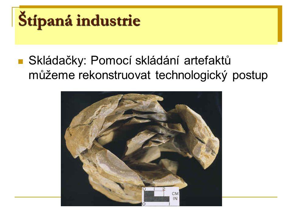 Skládačky: Pomocí skládání artefaktů můžeme rekonstruovat technologický postup Štípaná industrie
