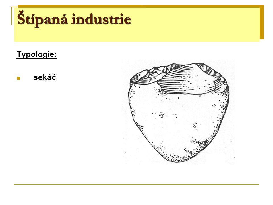 gravettien - pavlovien ŠI: drobnotvaré čepelovité nástroje – rydla, škrabadla, kombinované násroje (rydlo- škrabadlo), vrtáčky, pilečky, gravettské hroty – tzv.