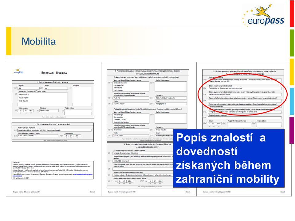 Doklad o stáži Popis konkrétních aktivit a dovedností získaných během stáže