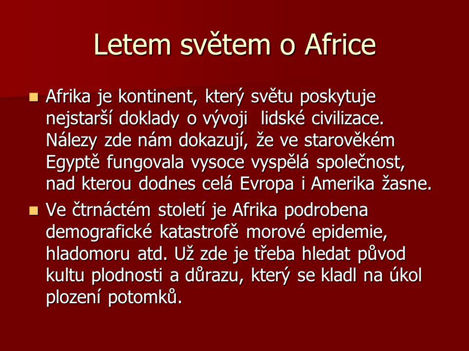 Letem světem o Africe Následující vývoj v Africe značně ovlivnil obchod s otroky od roku 1441 a v neslavné roli iniciátorů figurují Portugalci.