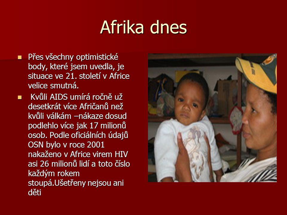 Afrika dnes Přes všechny optimistické body, které jsem uvedla, je situace ve 21.
