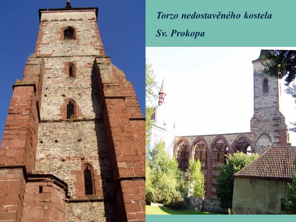 Torzo nedostavěného kostela Sv. Prokopa
