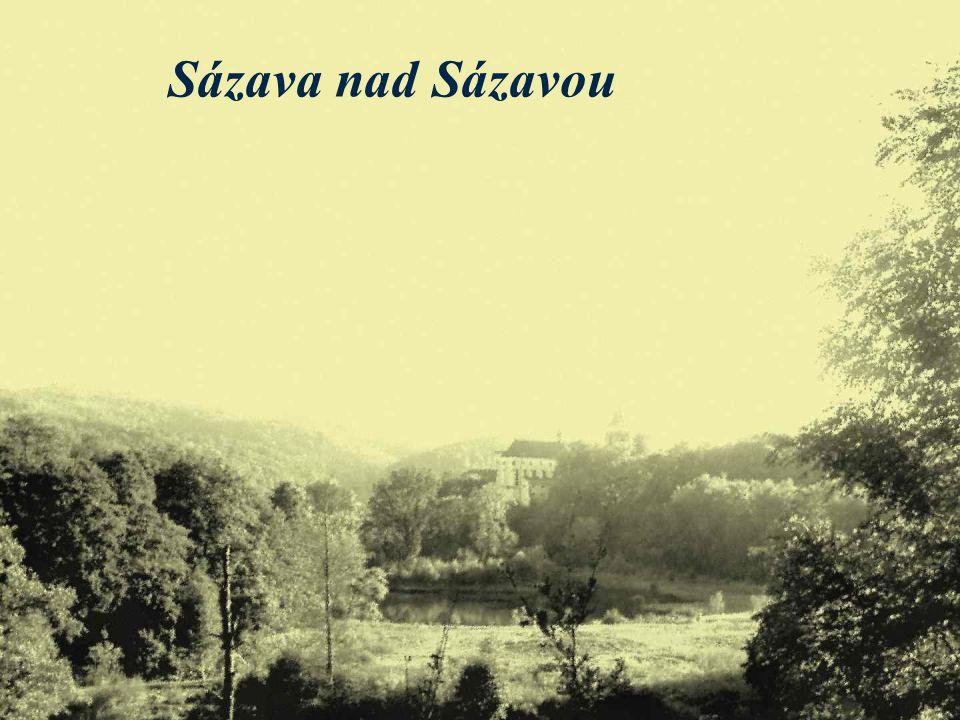 město Sázava leží v romantickém údolí řeky Sázavy místo je opředeno řadou legend a pověstí město leží asi 20 km jižně od Kouřimi v současnosti je Sáza